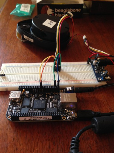 Reading Neato LIDAR Ranging Data with a BeagleBone Black